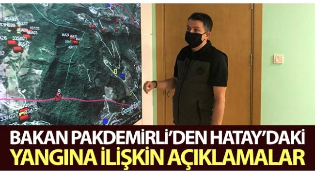 Hatay'daki yangından terör şüphesi var mı? Orman ve Tarım Bakanı Bekir Pakdemirli canlı yayında açıkladı..