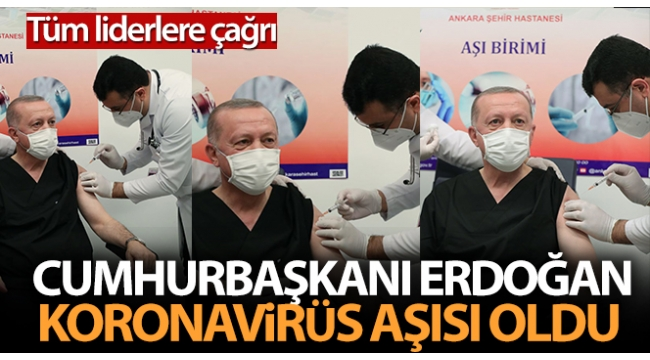 Son dakikahaberi: Başkan ErdoğanAnkara Şehir Hastanesi'nde corona virüsü aşısı yaptırdı! İşte ilk açıklama....