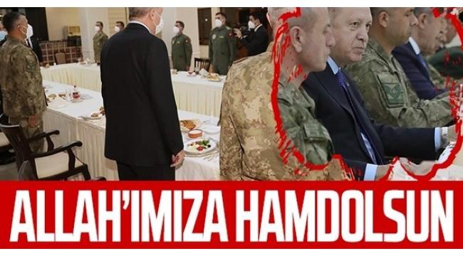BaşkanRecep Tayyip Erdoğaniftarını4. Kolordu Komutanlığı'ndaki askerlerle açtı