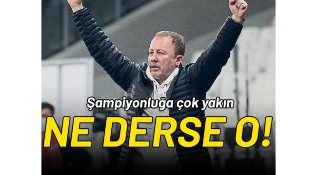Sergen Yalçın'ın Beşiktaş'ı sosyal medyayı salladı! Fenerbahçe ve Galatasaray taraftarından tebrik!