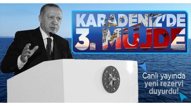 Karadeniz'de 135 milyar metreküplük yeni doğal gaz rezervi! Başkan Erdoğan Filyos'ta müjdeyi açıkladı.. .