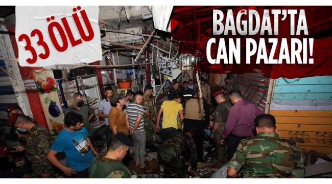 Bağdat'ta halk pazarında patlamada ölü sayısı 33 oldu