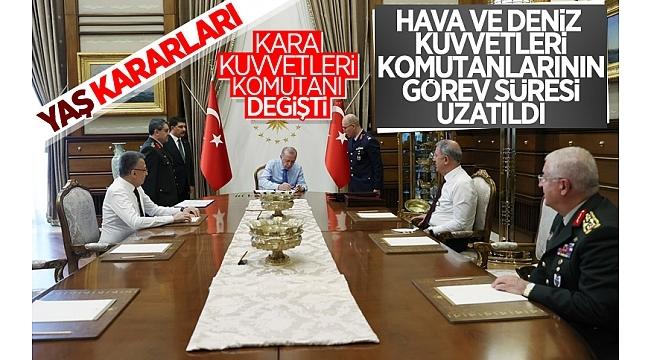 Yüksek Askeri Şuratoplantısı sona erdi! İşte Başkan Erdoğan'ın onayladığı YAŞ kararları